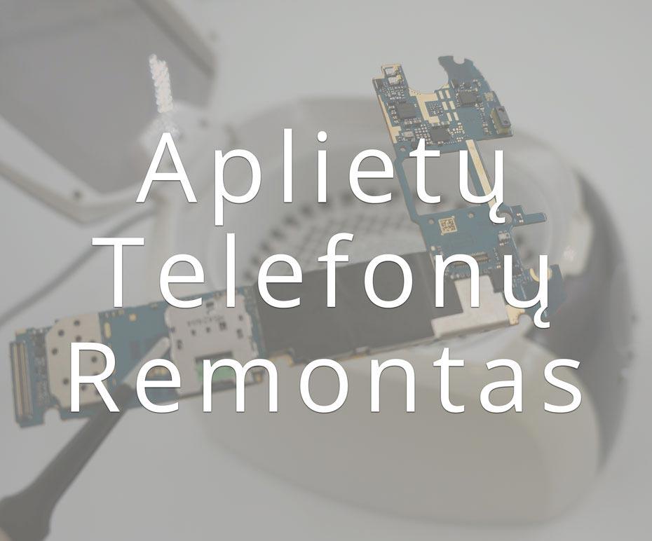 Aplietų telefonų remontas