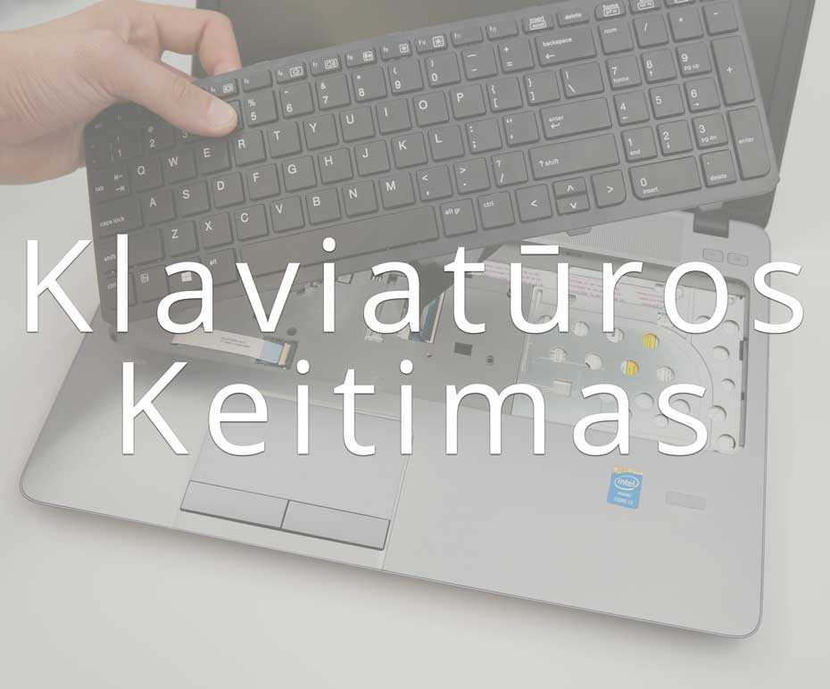 Nešiojamų kompiuterių klaviatūros