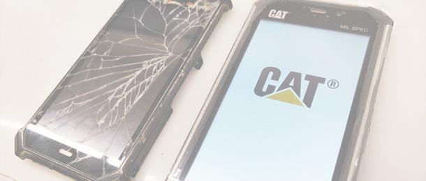 CAT S50 ekrano keitimas