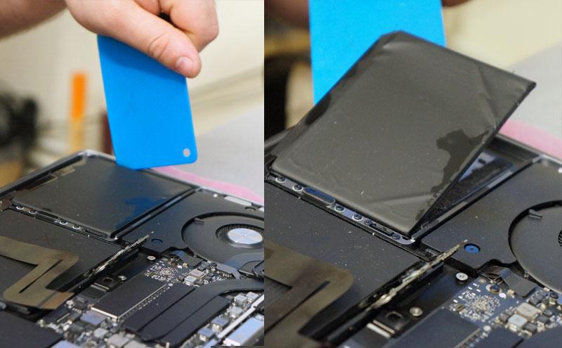 Išimama Macbook Pro A1708 baterija.