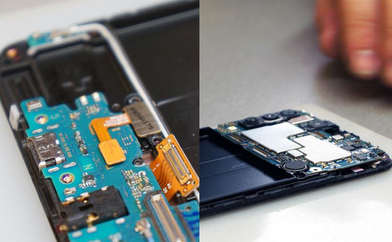 Samsung A50 ekranas ir plokštės