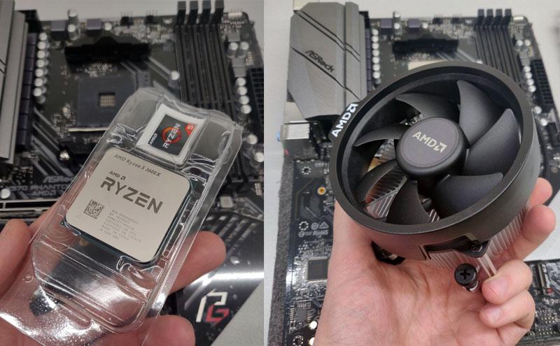 Įstatomas procesorius Ryzen 5
